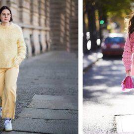 Ακολουθήστε τη μονοχρωματική… επιλογή! Με παντελόνι ή με μίνι φούστα, φορέστε το πουλόβερ σας με στιλ