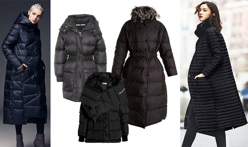 Το πουπούλενιο μπουφάν είναι ένα βασικό κομμάτι του χειμώνα. Με ζώνη, Ienki Ienki // Μακρύ με ζώνη και γούνινο γιακά, Prada // Κοντό, Balenciaga