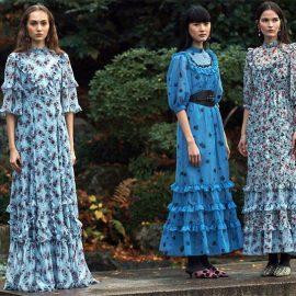 Ο οίκος Erdem παρουσίασε σύγχρονες ερμηνείες των prairie φορεμάτων που χαρακτηρίζονται από ζωηρές παλέτες χρωμάτων και πολλά φλοράλ