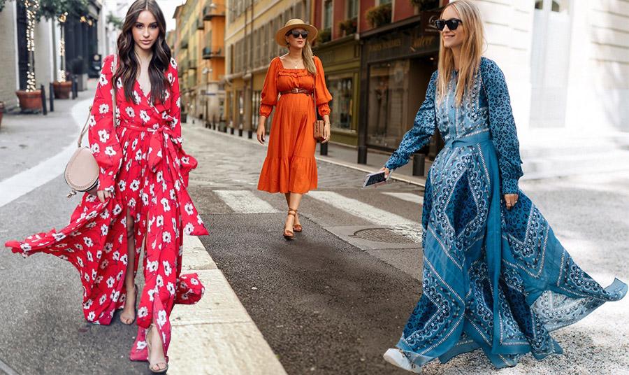 Εκτός από τα παστέλ, τα φορέματα γαλλικής εξοχής μπορεί να έχουν και έντονα χρώματα