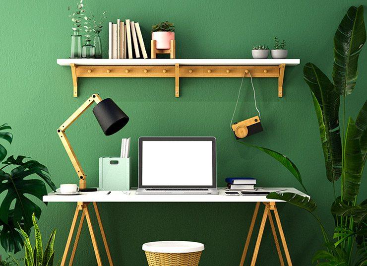 Πράσινη απόχρωση: Η ιδανική επιλογή για το γραφείο και 18 ιδέες διακόσμησης