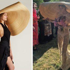 H Δανέζα ηθοποιός Emma Rosenzweig πιθανώς ήταν η πιο cool νύφη, όταν φόρεσε το υπερεμεγέθες ψάθινο καπέλο την ημέρα του γάμου της!