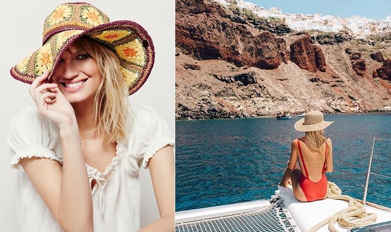 Ψάθινο καπέλο με λουλούδια για μία πιο μποέμ αισθητική // Ένα μεγάλο ψάθινο καπέλο προστατεύει τόσο το πρόσωπο όσο και το κεφάλι σας από τις υπεριώδεις ακτίνες του ήλιου