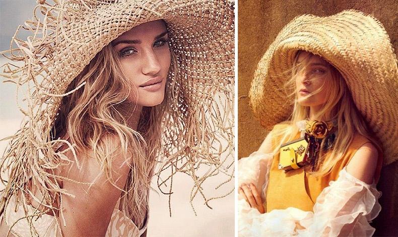 Κάθε καλοκαίρι υπάρχει ένα στιλ καπέλων που κυριαρχεί. Το φετινό είναι η εποχή των τεράστιων ψάθινων καπέλων και μάλιστα κυρίως στο φυσικό χρώμα της ψάθας και του άχυρου