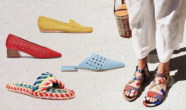 Διαλέξτε χρώμα! Φλατ κίτρινο, Proud Mary // Σε κόκκινο με τετράγωνο τακούνι, Nοa // Σε γαλάζιο, LOQ // Πολύχρωμη σαγιονάρα, Randall