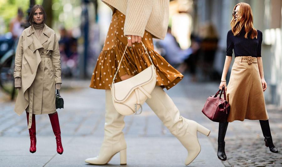 Ένα ζευγάρι μπότες στην απόχρωση του κόκκινου της Βουργουνδίας με κλασική καμπαρντίνα και ζιβάγκο δημιουργούν μία ακαταμάχητη εμφάνιση // Στο κρεμ χρώμα της μόδας // Μία θαυμάσια επιλογή για όλες τις ώρες, μαύρο ζιβάγκο, μαύρες μπότες και καμηλό φούστα. Η ενδιαφέρουσα πινελιά, μία μπορντό τσάντα