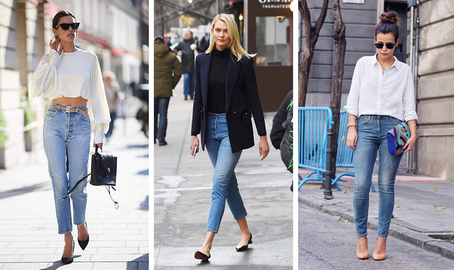 Φορέστε το δικό σας τζιν με ένα κοντό μπλουζάκι, με ένα ζιβάγκο και κλασικό σακάκι ή με ένα πουκάμισο και ψηλά ή χαμηλά παπούτσια