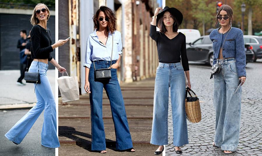 Τα φαρδιά ψηλόμεσα τζιν είναι προτιμότερο να τα φορέσετε με μία πιο εφαρμοστή μπλούζα ή με ένα κοντό σακάκι