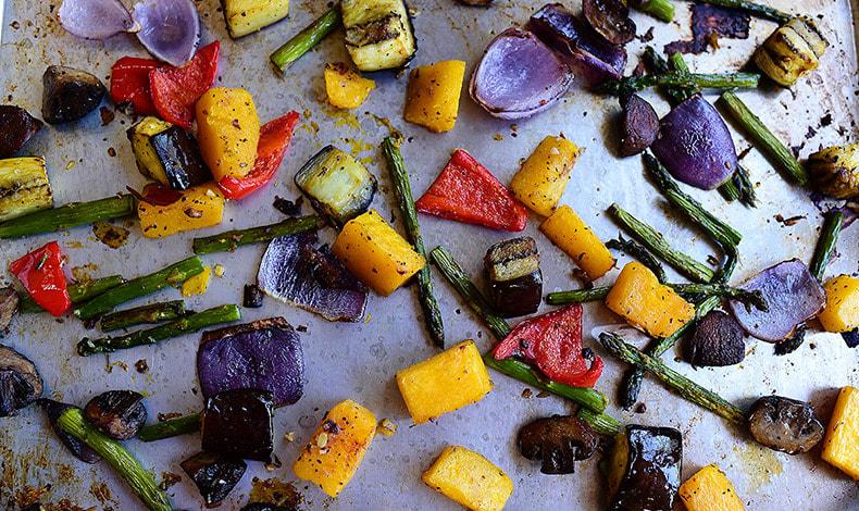 Όμορφα ψητά λαχανικά