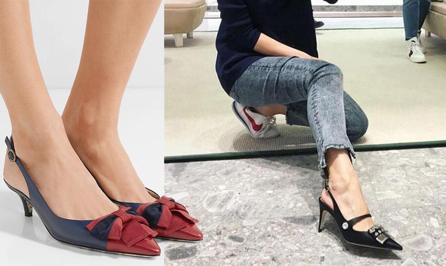 Τα ξώφτερνα παπούτσια είναι εξαιρετική επιλογή, γιατί «ελαφραίνουν» το πόδι και δεν φορτώνουν το σύνολο. Αν το τακούνι δεν είναι υπερβολικά ψηλό και το λουράκι υπερβολικά φαρδύ, τότε έχουμε πετύχει bingo!