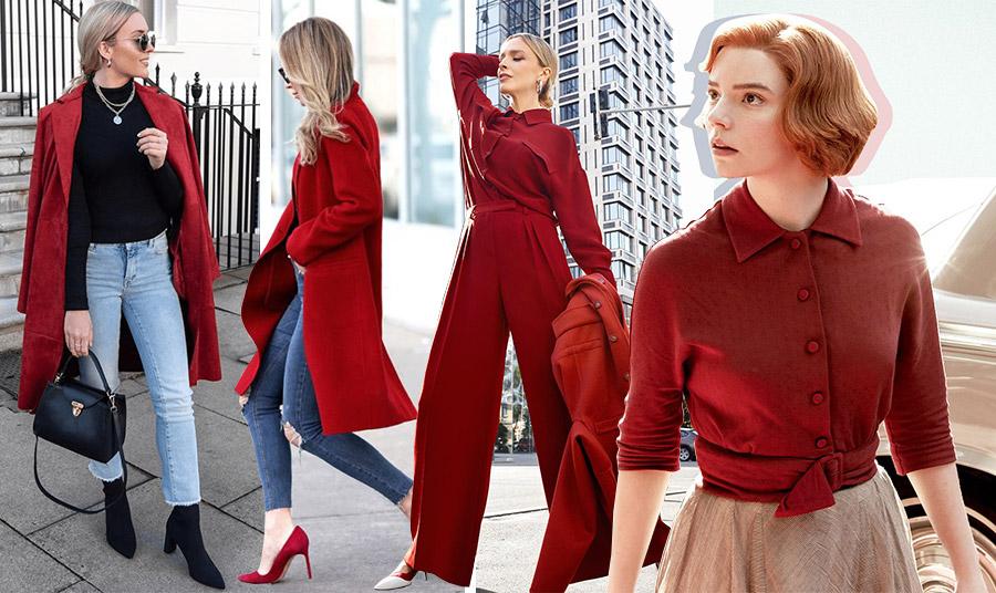 Στο κόκκινο της Βουργουνδίας! Παλτό ή πουκάμισο με μοναδικό στιλ! Φέτος η συγκεκριμένη απόχρωση του κόκκινου πρωταγωνιστεί!