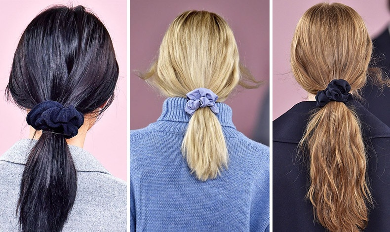 Τα «ταπεινά» scrunchies συνεχίζουν και τη φετινή σεζόν να κάνουν έντονη την εμφάνισή τους. Μάλιστα αν είναι από σατέν ή βελούδο είναι κατάλληλα και για το βράδυ!