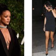 Οι «μαύρες» εκδοχές της Rihanna? Στα αριστερά από τα περυσινά βραβεία μόδας του Λονδίνου και στα δεξιά έξω από ένα εστιατόριο στο Λ. Άντζελες