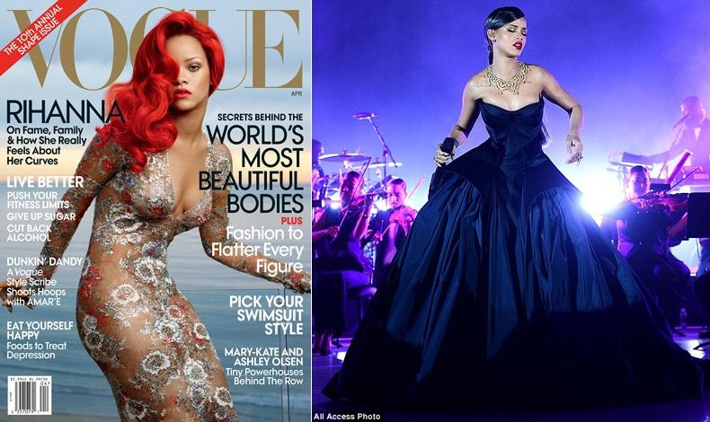 Έχει κοσμήσει άπειρα εξώφυλλα περιοδικών, όπως το Vogue του Απριλίου // Με τουαλέτα Zac Posen σε βαθύ μπλε