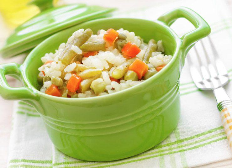 Ριζότο με καρότα και αρακά