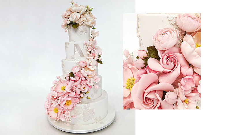 Ζαχαρωτά λουλούδια σε τέλεια αναπαράσταση των αληθινών και όλα χειροποίητα επί τόπου!