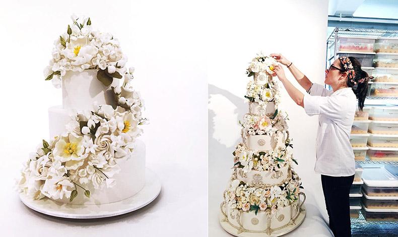Η Jess Pickens επί τω έργω… μίας πολυώροφης τούρτας