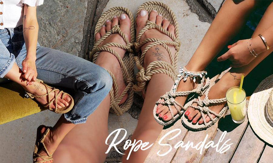 Rope sandals: Τα σανδάλια με σχοινιά είναι η άφιξη του καλοκαιριού