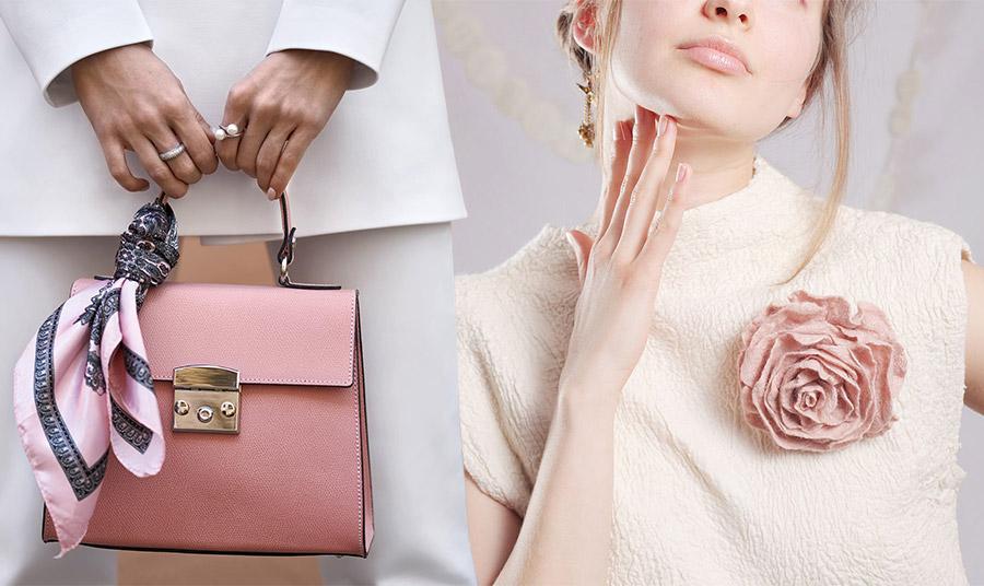 Συνδυάστε μία ροζ τσάντα ή μία ροζ λουλουδάτη καρφίτσα για ένα κομψό αποτέλεσμα. Ταιριάζουν τέλεια με λευκά ή κρεμ και χαρίζουν ιδιαίτερο στιλ