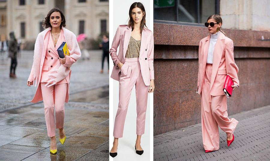 Ένα κοστούμι σε ροζ απόχρωση είναι μία από τις κυρίαρχες τάσεις για τη φετινή χειμερινή σεζόν, δίνοντας θηλυκότητα και στιλ στις καθημερινές μας εμφανίσεις
