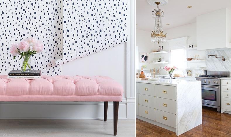 Όταν το ροζ μπορεί να δώσει ακαταμάχητο στιλ και ένα πολύ μοντέρνο ύφος // Σε μία λαμπερή κουζίνα βάλτε απλώς ένα μπουκέτο ροζ λουλούδια!