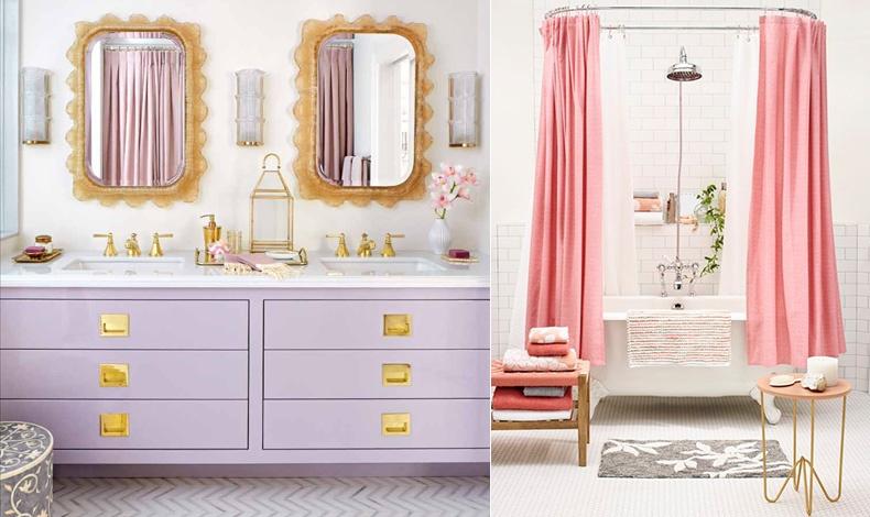 Απαλό ροζ ή ροζ τριανταφυλλί, όποια απόχρωση κι αν διαλέξετε ταιριάζει στο μπάνιο σας, χαρίζοντας στιγμές ηρεμίας