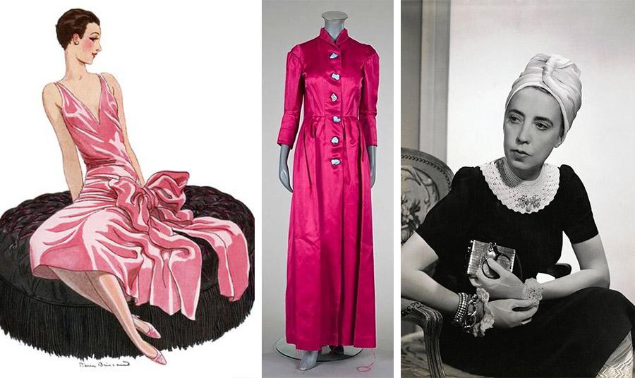 Flapper girl με φούξια φόρεμα και την υπογραφή Σκιαπαρέλι στα τέλη του '30 // Φόρεμα του 1938 // Η Έσλα Σκιαπαρέλι διακρίθηκε για το ανατρεπτικό στιλ της