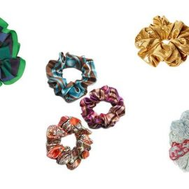 Scrunchies με την υπογραφή μεγάλων σχεδιαστών και τις ανάλογες? τιμές! Πράσινο με μπλε, Μarc by Marc Jacobs και τιμή 30 ευρώ // Σε ποικιλία χρωμάτων και σχεδίων, L. Erickson, τιμή από 40-50 ευρώ // Σε εκτυφλωτικό χρυσαφί χρώμα, Asos // Πλεκτό σε γαλάζιο-κόκκινο, Μissoni και τιμή 90 ευρώ!