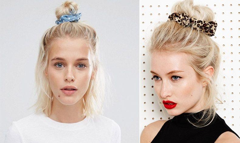 Μία ακόμη ιδέα είναι να πιάσετε τα μαλλιά στο κέντρο του κεφαλιού σε ένα μικρό κοτσάκι και τα υπόλοιπα κάτω ή σε ένα «κεφτεδάκι» στο μέσον του κεφαλιού