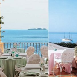 Το Oyster Bar για θαλασσινά και το Champagne Bar με παστέλ χρώματα και εκπληκτική θέα