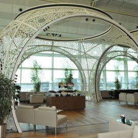 Κομψό περιβάλλον στο αεροδρόμιο της Κωνσταντινούπολης