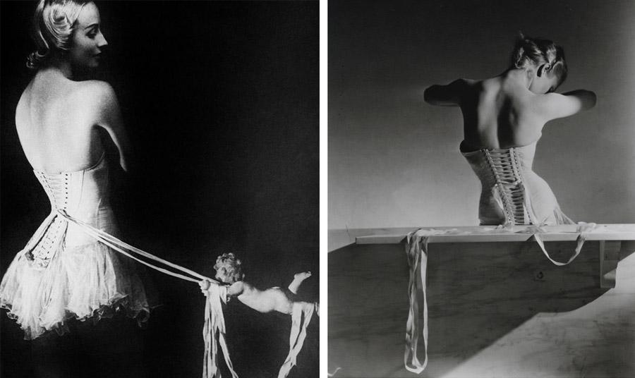 Κορσές Mainbocher, φωτογραφία Erwin Blumenfeld Harper's Bazaar, Αύγουστος 1939 // Kορσές Mainbocher (1939), Horst P Horst, © Conde Nast / Horst Estate