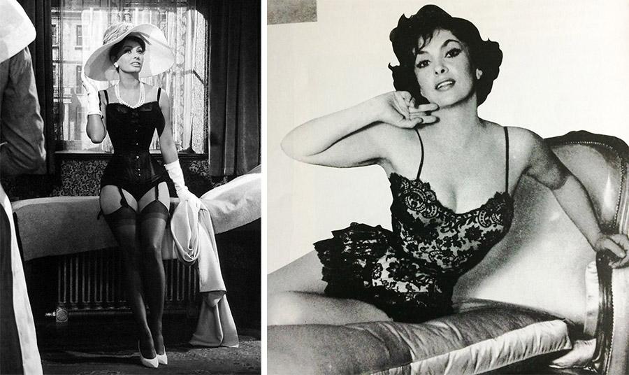 Δύο από τις θρυλικές Ιταλίδες πρωταγωνίστριες, Σοφία Λόρεν και Τζίνα Λολομπρίτζιτα σε σέξι εμφανίσεις