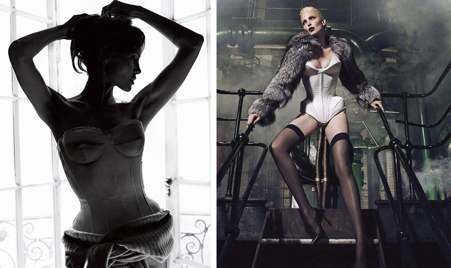 Κορσές στη σύγχρονη εποχή, από φωτογράφηση του Mario Testino για το Vogue, Δεκέμβριος 2010 // Editorial μόδας, Vogue 2014