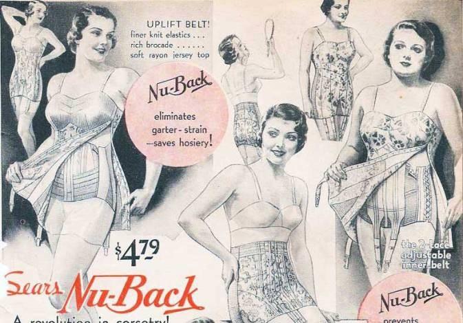 Διαφήμιση για το απαραίτητο εσώρουχο των γυναικών στη δεκαετία του '30