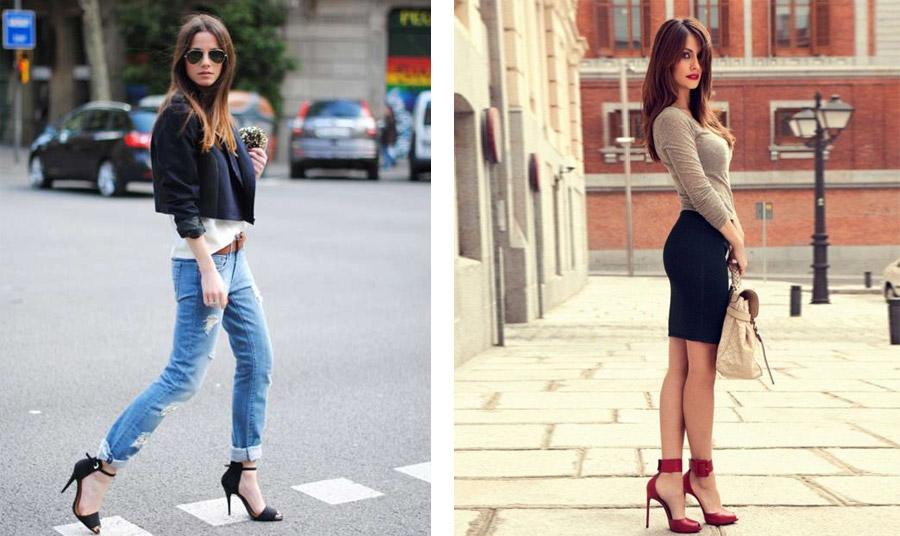 Στενές φούστες ή τζιν φορεμένα εξάπαντος με ψηλά τακούνια, κάνουν την εμφάνιση... ενδιαφέρουσα