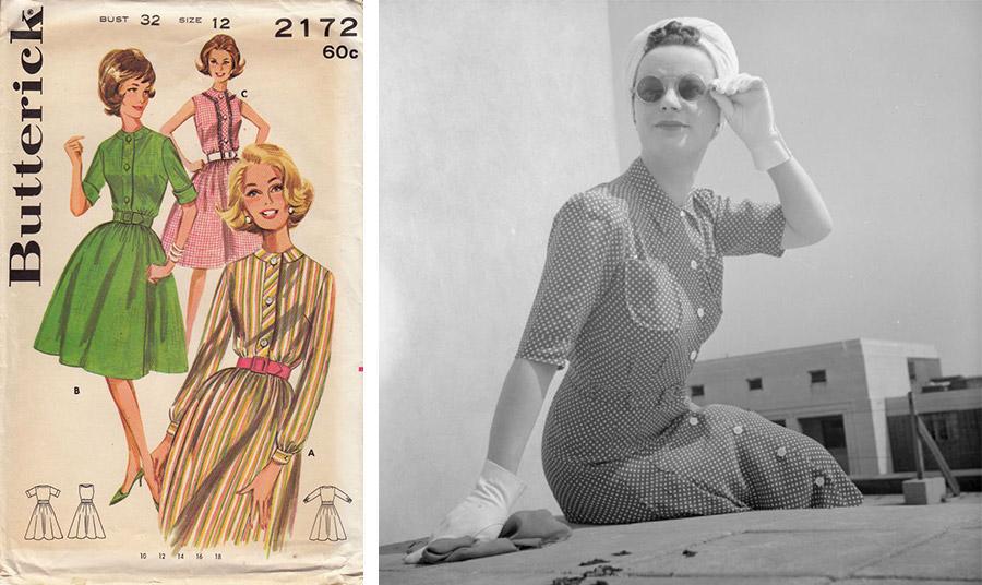Το φόρεμα-πουκάμισο τη δεκαετία του '60 παίρνει την άνετη μορφή και τη γραμμή που μοιάζει πολύ και με τη σημερινή