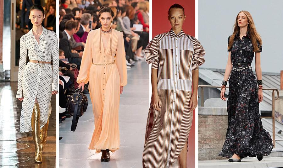 Το shirt dress από τις συλλογές άνοιξη-καλοκαίρι 2020: Altuzarra // Chloé // Lee Matthews // Chanel
