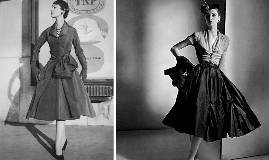 Το shirt dress από τον Christian Dior, ο οποίος το κάνει διάσημο από το 1947 και μετά. Η φαρδιά φούστα του όμως απαιτούσε φουρό!
