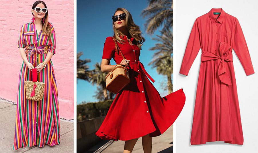 Το φόρεμα-πουκάμισο παίρνει τη γραμμή του από το ανδρικό πουκάμισο και είναι τέλειο σε μάξι ή μίντι γραμμή για όλες τις ώρες! Φορέστε ένα μακρύ ριγέ στην πόλη ή στις διακοπές, εντυπωσιάστε με μία κόκκινη εκδοχή // Φόρεμα κόκκινο, Max Mara