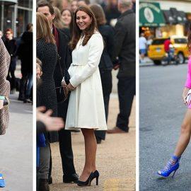 Τα μπλε παπούτσια ταιριάζουν τέλεια με λευκό αλλά και με πράσινο ή φούξια