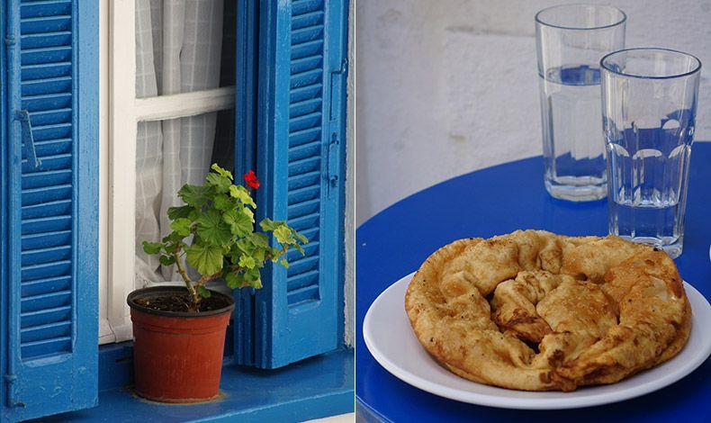 Κάθε παράθυρο έχει και την ανθισμένη γλάστρα του στη Σκόπελο // Η πεντανόστιμη σκοπελίτικη τυρόπιτα στον «Μιχάλη», στη Χώρα