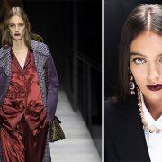 Απόχρωση σταθμός το σκούρο δαμασκηνί από τον οίκο Bottega Veneta αλλά και στο μακιγιάζ για τον φετινό χειμώνα Dolce & Gabbana