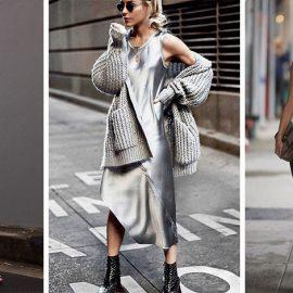 Συνδυάστε ένα μίντι μαύρο φόρεμα-κομπινεζόν με μία μακριά ζακέτα για πρωινές-απογευματινές βόλτες // Ασύμμετρο σε αστραφτερό ασημί με ανάλογης απόχρωσης ζακέτα και μποτάκια // Ένα μίντι με τονισμένη τη μέση με ζώνη, όπως η Alessandra Ambrosio