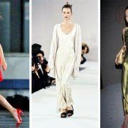Η Κέιτ Μος «ταυτίστηκε» με το slip dress, όσο καμία! Με μίνι κόκκινο το 2018 // Από την πασαρέλα του Calvin Klein το 1994 // Με πράσινο σατέν σε επίσημη εμφάνιση