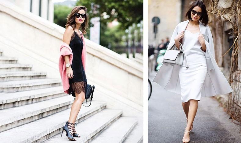 Η σέξι εκδοχή ενός μίνι slip dress με δαντέλα // «Μάθημα» θηλυκότητας σε total λευκό! Συνδυάστε ένα slip dress με ανάλογο μαντό