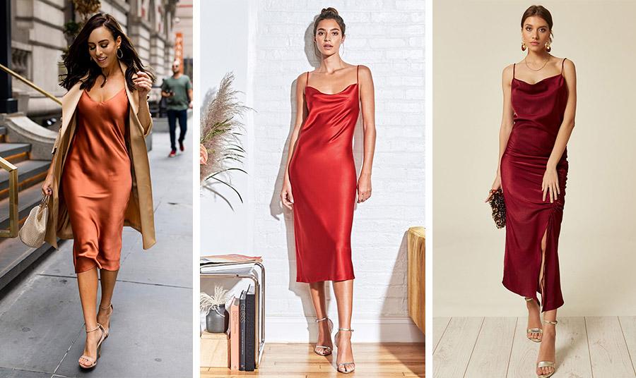 Ένα μίντι slip dress και τα ψηλοτάκουνα πέδιλα είναι άκρως θηλυκό και κομψό. Επιλέξτε μάλιστα τα χρώματα της μόδας, όπως το «καμένο» πορτοκαλί, το διαχρονικό κόκκινο ή ένα μπορντό