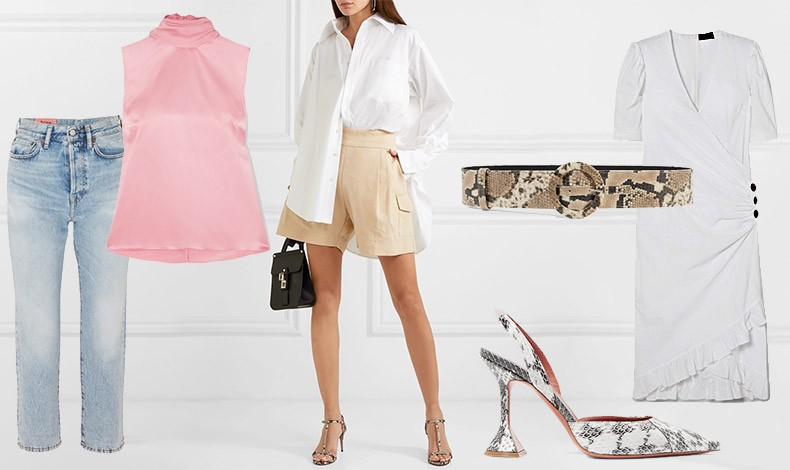 Για casual εμφανίσεις με πολύ στιλ! Φορέστε π.χ. ένα τζιν παντελόνι με ένα μεταξωτό τοπ σε παστέλ ή ένα σορτς με λευκό πουκάμισο ή πάλι ένα λευκό φόρεμα και συνδυάστε με snake print ζώνη ή παπούτσια