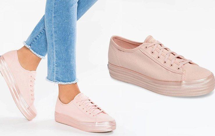 Sneakers στο ροζ του τριαντάφυλλου!
