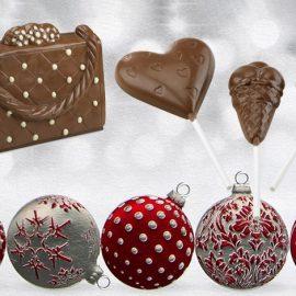 Σοκολατένια γλειφιτζούρια αλλά και πρωτότυπες κατασκευές (κατά παραγγελία) δίνουν τον τόνο των γιορτών!